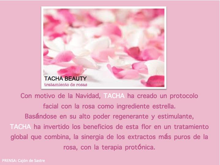 protocolo con rosas de Tacha
